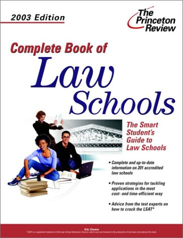 complete-book-of-law-schools-2003-edition-graduate-school-admissions-gui