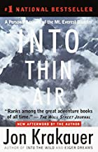 Into Thin Air: A Personal Account of the Mt.…
