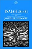 Blenkinsopp, Joseph: Isaiah 56-66: A New Translation With Introduction and Commentary
