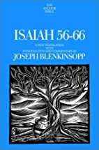 Isaiah 56-66: A New Translation with…