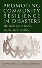 Promoting Community Resilience in Disasters:…