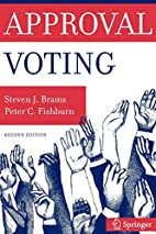 Approval Voting by Steven Brams