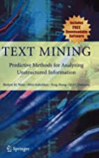Text Mining: Predictive Methods for…