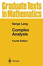Complex Analysis by Serge Lang