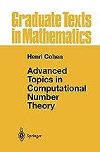 Advanced Topics in Computational Number…