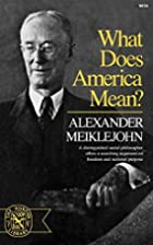What Does America Mean? (Norton Library,…