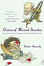 Lexicon of Musical Invective: Critical…