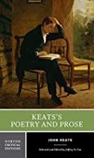 Keats's Poetry and Prose (Norton Critical…