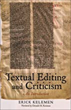 Textual Editing and Criticism: An…