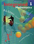 Integrated Mathematics: Book 1 by Houghton…