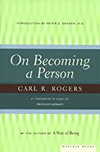 On Becoming a Person: A Therapist's View of…