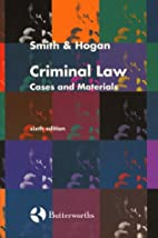 Criminal Law: Cases and Materials by J. C.…