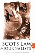 Scots law for journalists by Bruce McKain