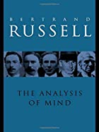 Analysis of Mind by Bertrand Russell