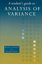 Student's Guide to Analysis of Variance by…