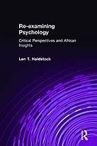 Re-examining Psychology: Critical…
