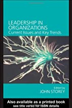 Leadership in Organizations: Current Issues…
