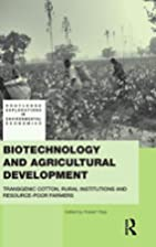 Biotechnology and Agricultural Development:…