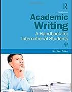 Academic Writing: A Handbook for…
