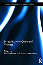 Disability, Hate Crime and Violence…