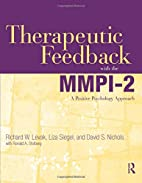 Therapeutic Feedback with the MMPI-2: A…