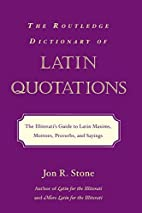 The Routledge Dictionary of Latin…