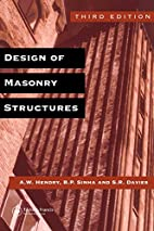 Design of Masonry Structures by A. W. Hendry