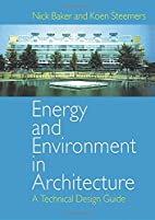 Energy and Environment in Architecture: A…