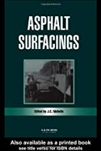 Asphalt Surfacings by Cliff Nicholls