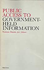 Public Access to Government-held Information…
