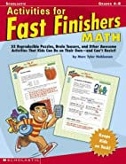 Activities For Fast Finishers: Math: 50…