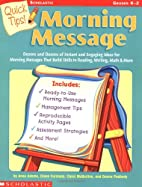 Quick Tips: Morning Message by Annmarie…