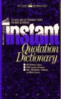 Bolander, Varner: The Instant Quotation Dictionary