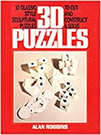 3D Puzzle Book by Alan Robbins