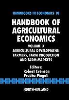 Handbook of Agricultural Economics, Volume…