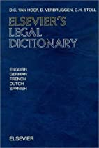 Elsevier's Legal Dictionary: In…