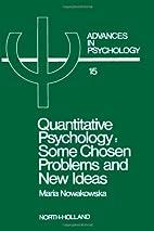 Quantitative Psychology: Some Chosen…