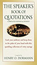 The Speaker's Book of Quotations, Updated…