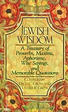 Jewish Wisdom by David C. Gross