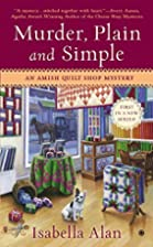 Murder, Plain and Simple: An Amish Quilt…