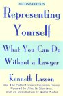 Lasson, Kenneth: Representing Yourself: What You Can Do Without a Lawyer