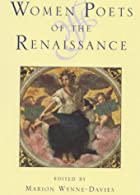 Women Poets of the Renaissance by Marion…