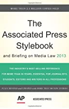 The Associated Press Stylebook 2013…