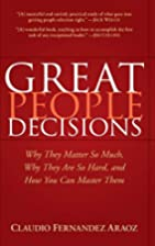 Great People Decisions: Why They Matter So…