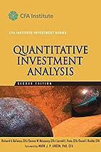 Quantitative Investment Analysis (CFA…