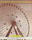 Connally, Eric: Functions Modeling Change, Student Solutions Manual: A Preparation for Calculus
