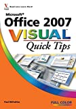 Paul McFedries: Microsoft<sup>®</sup> Office 2007 Visual<sup><small>TM</small></sup> Quick Tips (Visual Quick Tips)