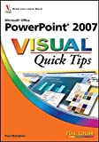 "Paul McFedries: MIcrosoft ""Office Powerpoint 2007 Visual Quick Tips"