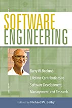 Software Engineering: Barry W. Boehm's…
