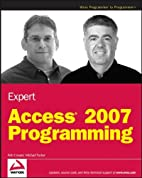 Expert Access 2007 Programming by Rob Cooper